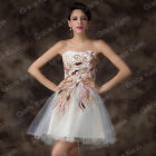 2014 NEW STYLE Peacock Tulle Homecoming Short Prom Evening Party Ball Gown Dress