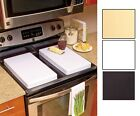 NEW Set of 2 Gas Stove Burner Covers Conceal Mess Add Extra Counter Space
