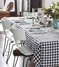 Country Style New Table Cloth- Black Gingham- Tablecloth Assort. size New cotton