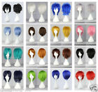 New15 Colors New Fashion Short Straight Man Wig Cosplay Party Wigs+Free gift