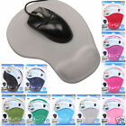 MOUSE MAT PAD ANTI-SLIP COMFORT WITH FOAM REST WRIST SUPPORT PC LAPTOP NOTEBOOK