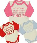 BabyPrem Baby Clothes CUTE UNCLE Bodysuit One-Piece Creeper Funny Shower Gifts