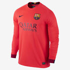 NIKE FC BARCELONA LONG SLEEVE AWAY JERSEY 2014/15 FOOTBALL LA LIGA SPAIN.
