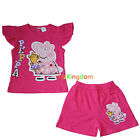 Peppa Pig Summer Pyjamas Pajamas PJS Top Short Size 2,3,4,5,6