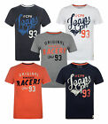 New BLEND Mens Retro Print T-shirts Orange Blue Grey White T-Shirt Jersey Cotton