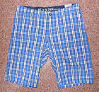 Mens Mexx Lightweight Bermuda cotton shorts blue check W32  BNWT
