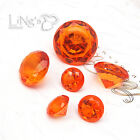 Crystal Orange Diamond Confetti Wedding Party Favor Paperweight Scatter Decor