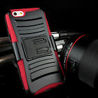 "For iPhone 6 4.7"" Plus 5.5 Rugged Hybrid Hard Case Cover Belt Clip Holster Stand"