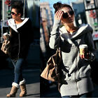 Women Lady Winter Fur Thicken Warm Coat Hood Parka Overcoat Long Jacket Outwear
