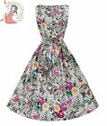 Lindy Bop 50's Audrey Tropical Floral Dress White