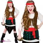 Caribbean Pirate Girl Kids Girls Costume Buccaneer High Seas Sizes 3-13 Years