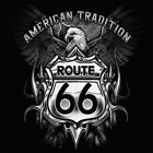 American Tradition Route 66 Bald Eagle T-Shirt or Tank Top All Sizes