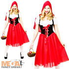 Red Riding Hood Ladies Long Fancy Dress Fairytale Book Womens Adult Costume 6-28