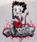 Custom Airbrushed Betty Boop Devil Design Personalized T-Shirt Any Size Avail $35.99 USD