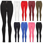 Ladies Womens COLOURED SKINNY FIT Stretch Jeans JEGGINGS Leggings Summer 8-16