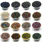 Mix Glass Seed Beads - Iris, Silver Lined, Ceylon, Luster, Rainbow & Transparent