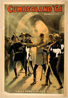 Photo Print Vintage Poster: Stage Drama Flyer Theatre Show Cumberland 61