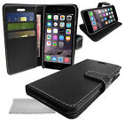 Black Pu Leather Wallet Phone Case, Cover with Media Stand & Card / Money Slots