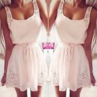 Ladies Summer Sleeveless Bling Pink Rhinestone Evening Cocktail Party Mini Dress