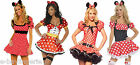 Adult Minnie Fancy Dress Mouse Fairy Tales Party Outfits Costume Socks Disney
