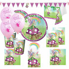 Garden Fairy Girls Ultimate Birthday Party Kits Plates Cups for 8 - 40 Guests!