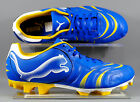 Puma (101917-11) Powercat 4.10 FG adults football boots - Blue/Yellow