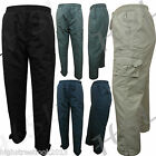 Mens Elasticated Fleece Lined Thermal Walking Cargo Winter Trousers 10 TO 3XL