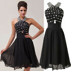 Short Women XMAS Evening Cocktail Prom Gown Formal Party Dress 6 8 10 12 14 16+