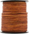 Brown Distressed Light Round Leather Cord 3mm