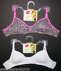 HANES GIRLS' PADDED MOLDED BRALETTE BRA 2-PACK STYLE H136 SIZE S and XL - NWT