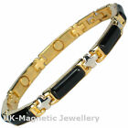 LADIES MAGNETIC BRACELET WITH BLACK GEMSTONES (#BRAS-55-MJ)