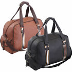 OVERSIZED HOLDALL WEEKENDER FLIGHT TRAVEL SHOULDER BAG LADIES MENS FAUX LEATHER