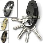 CARBON FIBER HARD OXIDE KEY HOLDER CLIP KEYS ORGANIZER FOLDER KEY CHAIN EDC TOOL