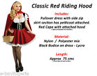 Red Riding Hood Costume Ladies Fancy Halloween Alice Wonderland Book Film Snow