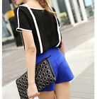 NEW Korean Fashion Women's Loose Chiffon Tops Short Sleeve Shirt Casual Blouse