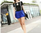 Fashion Women's Loose Chiffon Tops short Sleeve Shirt Casual Blouse