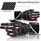 2014 New! Carbon Fiber Motorcycle Bike Racing Protective Genuine Leather Gloves