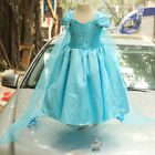 UK Seller FZ10 Frozen Princess Snow Queen Elsa Cosplay Costume Party Fancy Dress