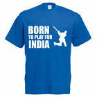 BORN TO PLAY FOR INDIA - Indian / Sport / Funny / Cricketing Themed Mens T-Shirt
