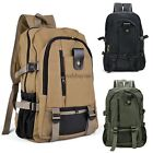 US SELL Men's Military Vintage Canvas Rucksack Backpack Hiking Camping Bag