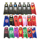 Superhero Cape (1cape+1mask)Superman Batman Spiderman Supergirl Batgirl for kids