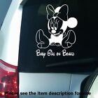 Princess on Board Disney Minnie Mouse Car Bumper Sign Vinyl Stickers Decal D03