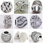 925 Sterling Silver Clear CZ Charms fit European Charms Beads bracelets