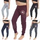 Womens Ladies Jogging Bottoms All Star Converse Print Joggers Size UK 8 10 12