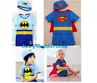 New Boys Superman Batman Superhero 2 Pieces Swimwear Set Swimsuit size 1-5Y