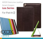 iPad Air2 Smart Covers Cases by HOCO Genuine Cowhide Leather w Elegant Texture