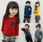 New Kids Toddler Clothes Girls Boys Long Sleeve Casual T Shirt Blouse Tops