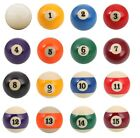 New Single 2.25 Standard Pool Ball - Choose A Ball - Replacement Billiard Ball $6.95 USD on eBay