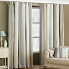 BROADWAY COTTON RICH CURTAINS DUCK EGG BLUE & BEIGE.3 sizesNEXT DAY DELIVERY