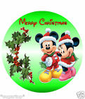 """MINNIE MICKY MOUSE CHRISTMAS  24 x 2""""or Large 7.5"""" Edible Cake Topper Rice Paper"""